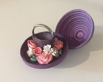 Handcrafted Quilled Engagement Ring Holder