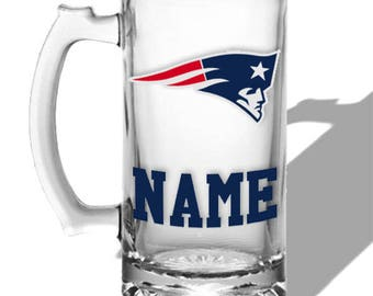 Personalized beer mug New England Patriots, Gift