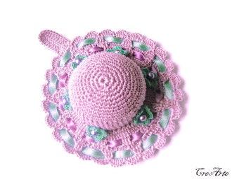 Purple Crochet Pincushion, Handmade Pincushion, Sewing accessories, Puntaspilli viola