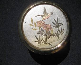 Dynasty Gallery Chokin bowl-w/lid-Humming bird-signed