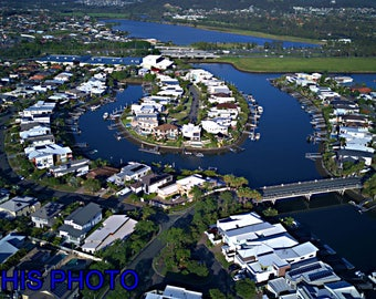 DJI-0085-Canal Homes | Lucky Shape Gold Coast | Buy This Photo Here  | Ideal for Website, Promotion, Editioral , advertising, promotion,