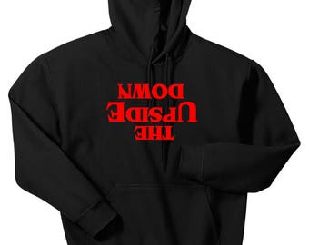 Stranger Things The Upside Down Hoodie, Custom Stranger Things Hooded Sweatshirt, Sizes S-5XL, Gift for Her, Gift for Him. 18500