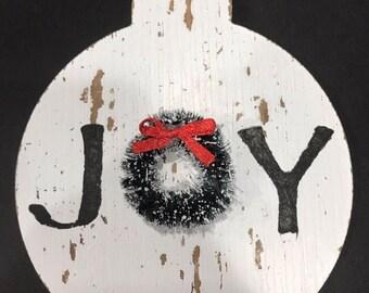 Joy  ornament , christmas decor , wreath