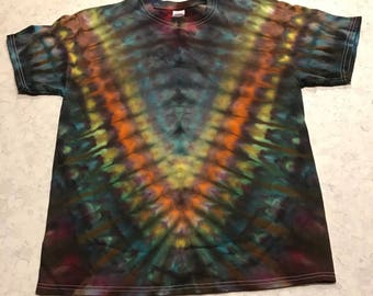 Size Large Ice Dyed V Design