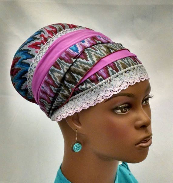 Exquisite colorful chevron sinar tichel, tichels, chemo scarves, head scarves