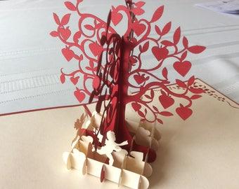 LOVE TREE Pop Up Card