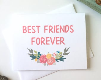 Best Friends Forever, Friendship Card, BFF Card, Best Friend Gift, Friend Valentine, Best Friend Valentine, Friend Card, Bestie Card, Bestie