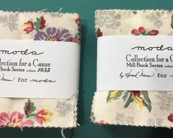 Moda Collection for a Cause Mill Book Series circa 1835 Mini Charm Packs