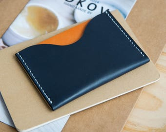 Leather Cardholder Two Pockets
