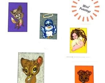 ON SALEcij 20% off Nursery Decor, Tapestry Montage, Needle Felted Art.