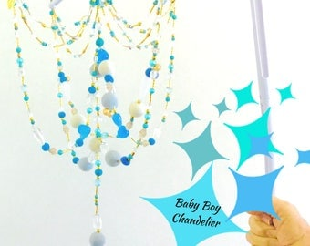 Chandelier Baby Mobile, Complete with Cot Attachment, 35 Tune music box, Glamorous Nursery, Unique One of a Kind Mobile