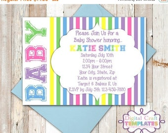SALE Personalized Printable Invitations | BABY | Baby Shower | Birth Announcement |  #94