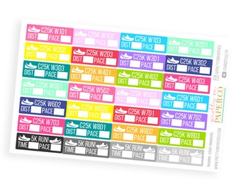 C25K - Couch to 5k- Planner Stickers