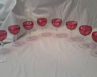 Antique Italian Glass/8 pcs.