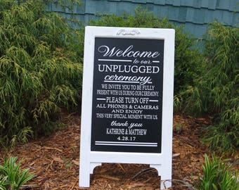 Unplugged Ceremony Signs, Unplugged, Unplugged Ceremony, Unplugged Wedding, Unplugged Wedding Sign, Unplugged Wedding Ceremony Sign