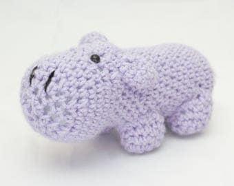 Amigurumi stuffed hippo