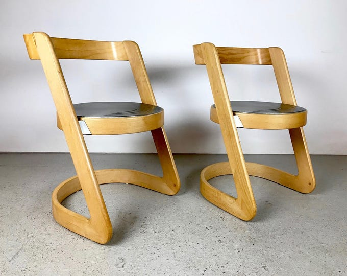 Pair of Mid Century Modern ITALIAN Willy Rizzo for Mario Sabot Chairs