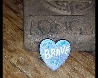 Brave Heart Pin