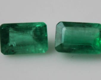 1 ct Pair of Colombian Emeralds (6x4)