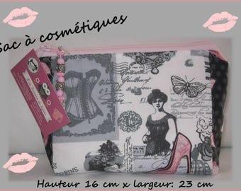 CLUTCH cosmetic size 15 cm x 24 cm Double zipper