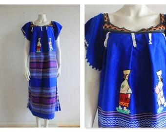 Rare Vintage South American wool embroidered kaftan/dress