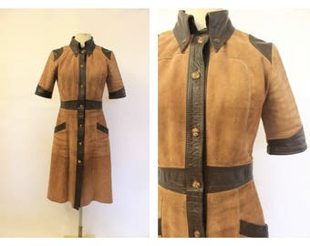 70's Suede Coat Dress