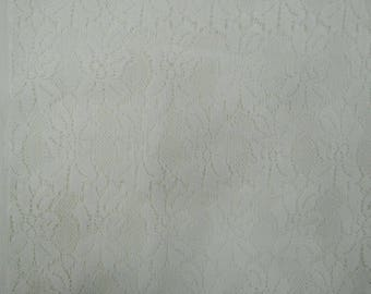 "Indian Designer Net Fabric, Sewing Crafts, White Fabric, Home Decor Fabric, 42"" Inch Apparel Fabric By The Yard ZBD196A"