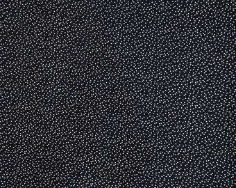 """Black Decorative Fabric, Polka Dots, Indian Fabric, Sewing Crafts Material, 42"""" Inch Cotton Fabric By The Yard ZBC9343A"""
