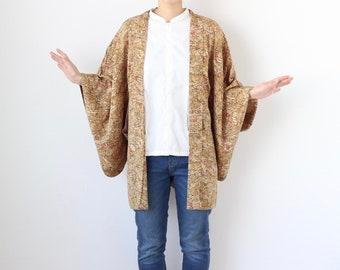 silk kimono, Japanese kimono, haori, kimono jacket, short kimono, cardigan kimono, Japanese clothing /3174