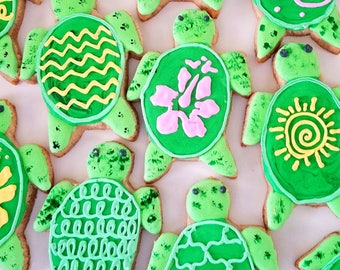 Sea turtle cookies (12)