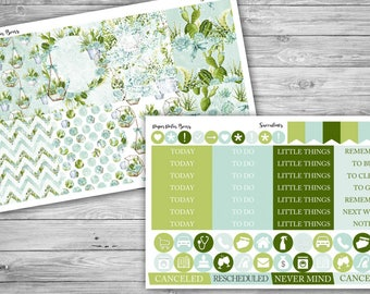 Succulents Mini Kit for Erin Condren Planners