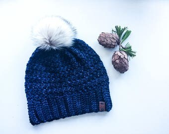 Women's Crochet Winter Bobble Hat