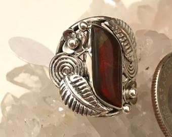Ammolite Ring Size 6 1/2