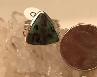 Ruby in Zoisite Ring Size 9