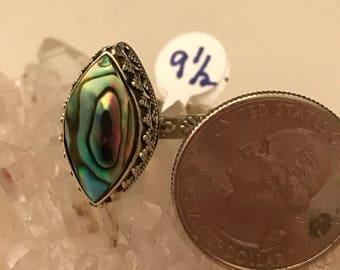 Abalone Ring Size 9 1/2