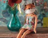 Fox animal head art doll...
