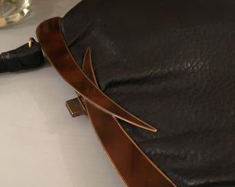 Vintage AP Model Black Leather Handbag