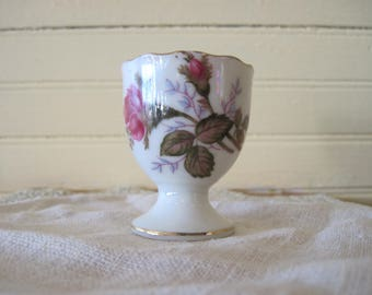 Vintage Moss Rose Egg Cup - Item #1280
