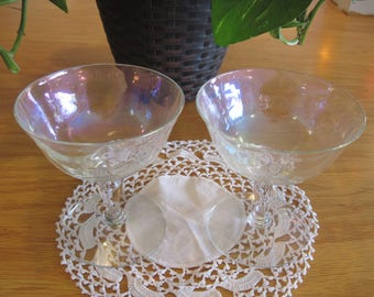 Pair of Iridescent Champagne Coupe Glasses- Item #1418