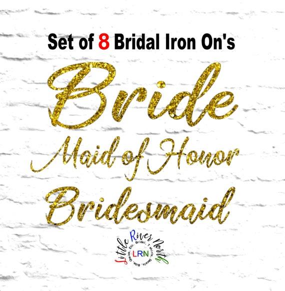 Set Of DIY Iron On Bridal Heat Transfer DecalsCustom Vinyl - Custom vinyl transfer decals