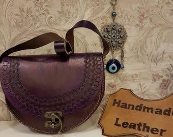 Purple, Crossbody, Leather, The Purple Ruby Code:112