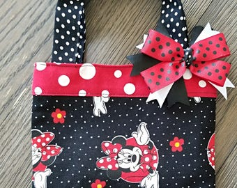 Girls easter gift etsy minnie toddlers purse mouse purse little girls hair bow with purse easter negle Choice Image