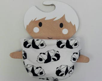 Snood / pandas origami kids neck warmer