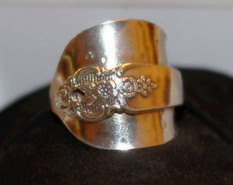 Silverplate Spoon Ring size 11.5 Plus-size