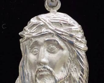 Christ face 925 silver charm