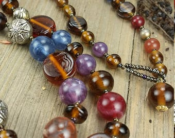 Vintage Glass Bead Necklace