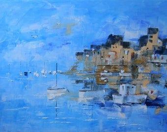 "Painting ""Blue Bretagne"""