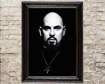 Anton Szandor LaVey, Church of Satan, satanism, satan, satanic, devil, pentagram, occultist, satanic gift, devil art, occult art, print, 245