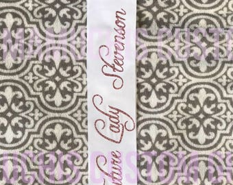 Bachelorette sash | Bride to be sash | Personalized bride sash | Bridal shower