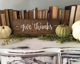 Give Thanks - Wood Sign